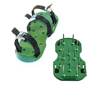 ALEKO Lawn Garden Sharp Aerating Spike Shoes Green Color