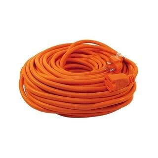 ALEKO ETL Extension Cord Lighted Plug SJTW 16/3 Indoor Outdoor 100 ft - Orange