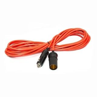 ALEKO Outlet Plug Extension Cord With Cigarette Lighter Plug 25 ft/12V - Orange