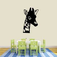 Giraffe Head Wall Decal