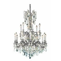 Fleur Illumination 18 light Pewter Chandelier