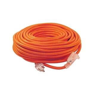 ALEKO ETL Extension Cord Lighted Plug SJTW 14/3 Indoor Outdoor 100 ft - Orange