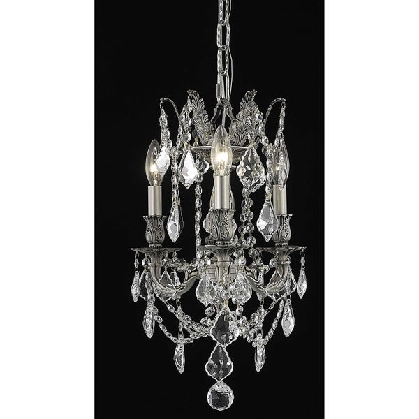 Fleur Illumination 3 light Pewter Pendant