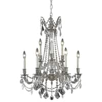 Fleur Illumination 9 light Pewter Chandelier