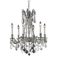 Fleur Illumination 6 light Pewter Chandelier