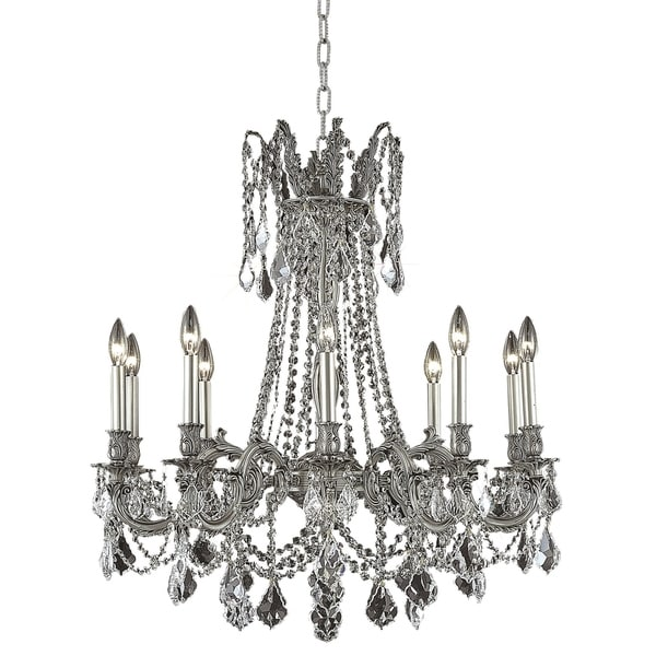 Fleur Illumination 10 light Pewter Chandelier
