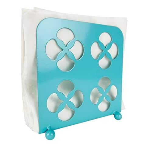 Sweet Home Collection Napkin Holder Trinity (Turquoise)