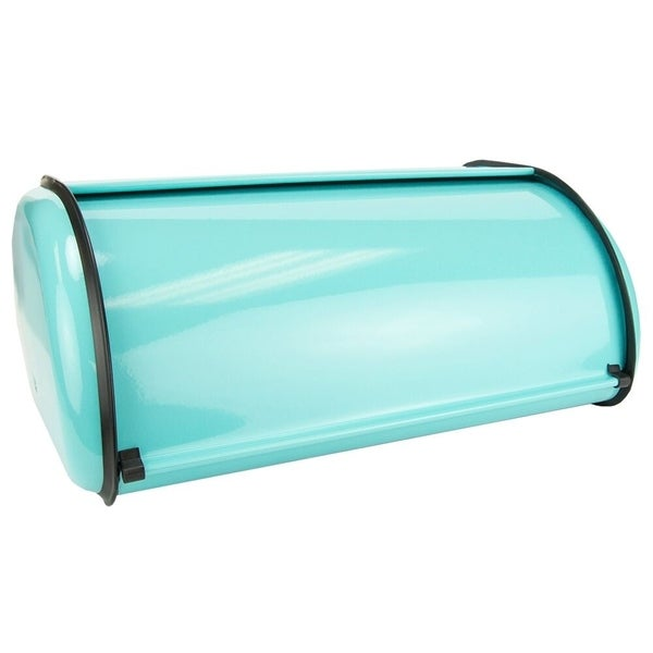 Turquoise Bread Box Gorgeous Shop Sweet Home Collection Bread Box Turquoise Free Shipping On