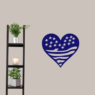 Heart Flag Wall Decals Wall Stickers