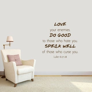 Love Your Enemies Wall Decal