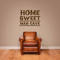 Home Sweet Man Cave Wall Decal
