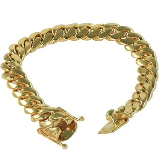 SOLID 14k Yellow Gold 8.5 Inch Miami Cuban Link Bracelet 12 MM , 92.56 Grams