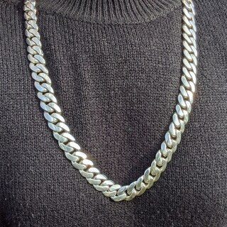 SOLID Sterling Silver 30 Inch Miami Cuban Link Chain 15 MM , 345 Grams