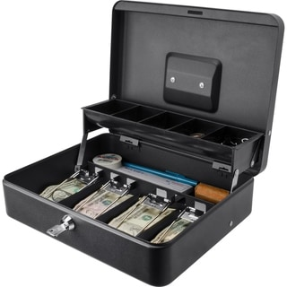 Barska 12 inch Standard Register Style Cash Box with Key Lock