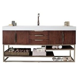 "Columbia 72"" Single Vanity, Coffee Oak"