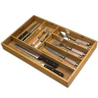 All Natural Wood Cutlery Tray (Large)
