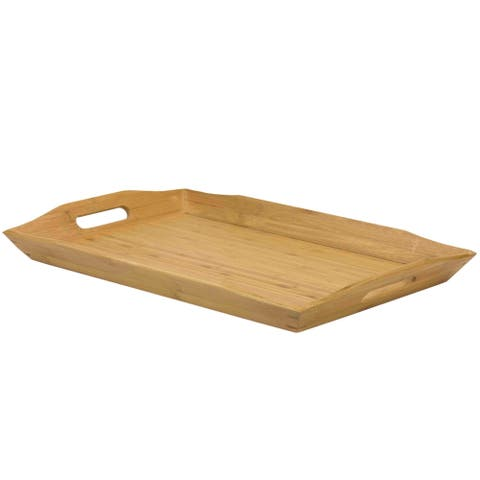 Sweet Home Collection Natural Wood Serving Tray