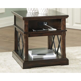 Signature Design by Ashley, Roddinton Traditional Dark Brown End Table