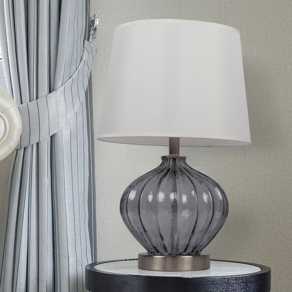 "16.75"" Glass Table Lamp"