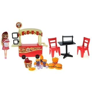 My Cute Fast Food Cart Toy Fast Food Hamburger Outdoor Cart
