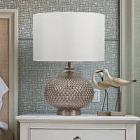 "16"" x 16"" x 22.5"" Round Silver Base Table Lamp"