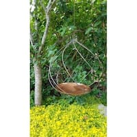 Swirl Copper Bird Bath
