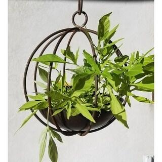 Small Hanging Globe Planter