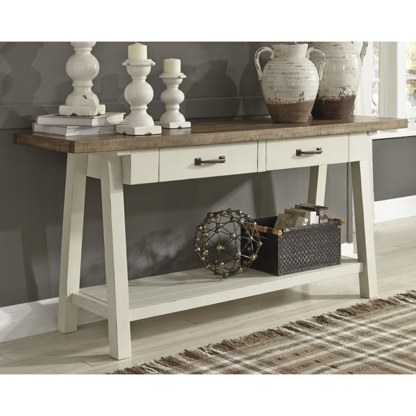 Stownbranner Two-tone Casual Sofa Table