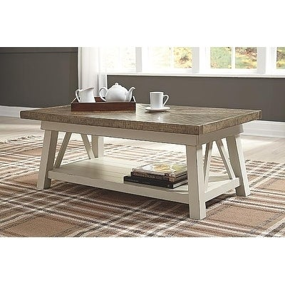Shop Signature Design By Ashley Stownbranner Twotone Casual Coffee - Ashley veldar coffee table