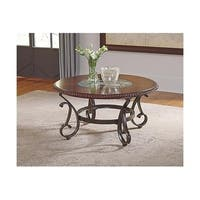 Signature Design by Ashley, Gambrey Traditional Reddish Brown Coffee Table
