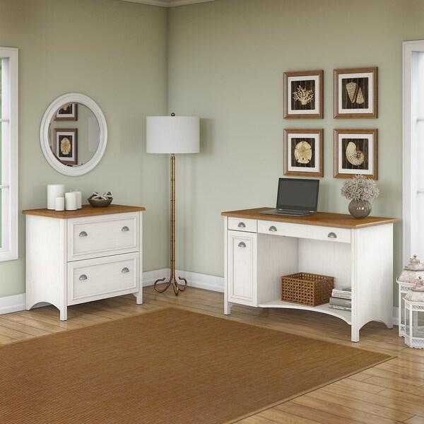 Shop Bush Furniture Stanford Computer Desk With 2 Drawer