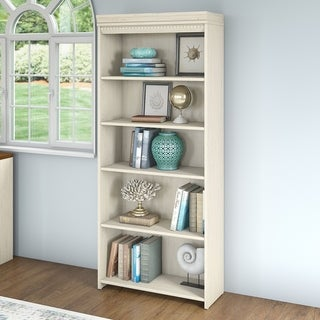 Copper Grove Pernik 5-shelf Bookcase in Antique White