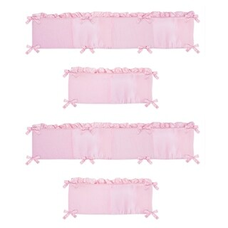 Sweet Jojo Designs Pink Chenille Collection Baby Crib Bumper Pad