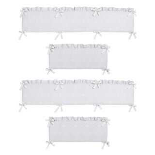 Sweet Jojo Designs White Eyelet Collection Baby Crib Bumper Pad