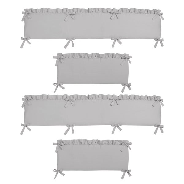 Sweet Jojo Designs Grey Harper Collection Baby Crib Bumper Pad. Opens flyout.