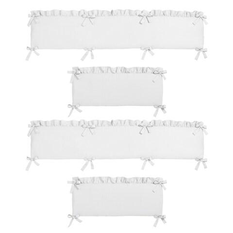Sweet Jojo Designs White Harper Collection Baby Crib Bumper Pad