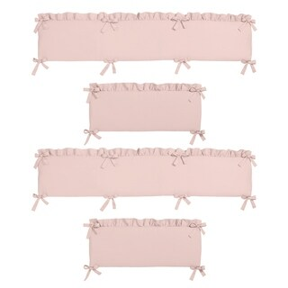 Sweet Jojo Designs Pink Harper Collection Baby Crib Bumper Pad