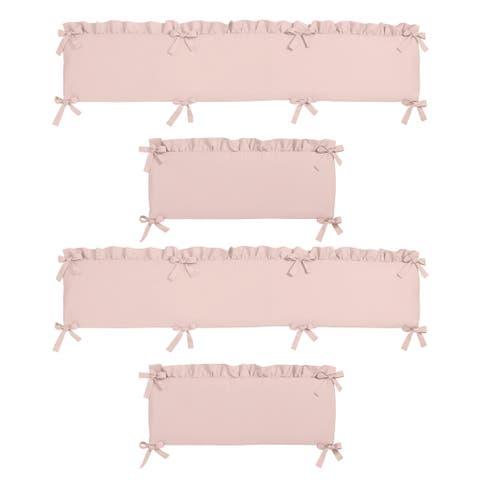 Sweet Jojo Designs Pink Harper Collection Baby Crib Bumper Pad