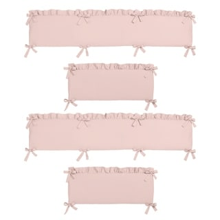 Link to Sweet Jojo Designs Pink Harper Collection Baby Crib Bumper Pad Similar Items in Baby Blankets