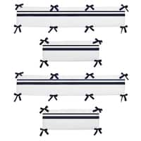 Sweet Jojo Designs White and Navy Hotel Collection Baby Crib Bumper Pad