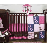 Sweet Jojo Designs Western Cowgirl 11-piece Bumperless Crib Bedding Set