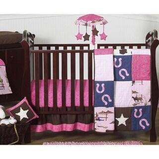 Sweet Jojo Designs Western Cowgirl 11-piece Bumperless Crib Bedding Set