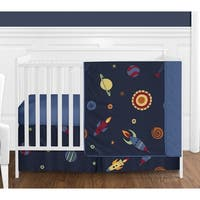 Sweet Jojo Designs Space Galaxy 4-piece Bumperless Crib Bedding Set