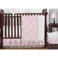 Sweet Jojo Designs Pink Alexa Damask Collection 11-piece Bumperless Crib Bedding Set