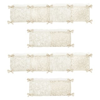 Sweet Jojo Designs Ivory and Champagne Victoria Collection Baby Crib Bumper Pad