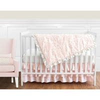 Sweet Jojo Designs Blush Pink Amelia Damask Collection 11-piece Bumperless Crib Bedding Set