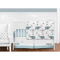 Sweet Jojo Designs Bear Mountain Collection 11-piece Bumperless Crib Bedding Set