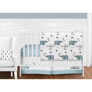 Sweet Jojo Designs Bear Mountain Collection 11-piece Bumperless Crib Bedding Set