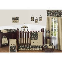 Sweet Jojo Designs Green Camo 11-piece Bumperless Crib Bedding Set