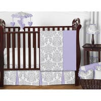 Sweet Jojo Designs Lavender Purple and Gray Elizabeth 11-piece Bumperless Crib Bedding Set